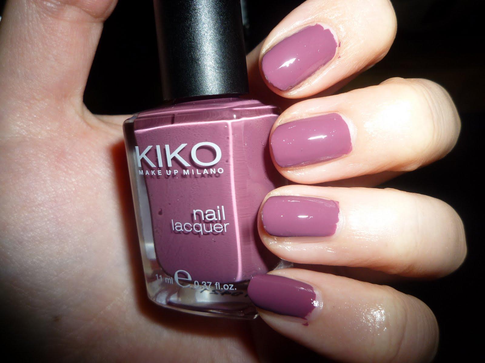 Preferenza La Fata Trucchina: Prova su strada: smalto 317 rosa antico di Kiko UD98