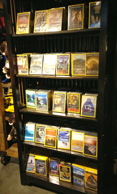 videos on sale at the national geographic store in madrid