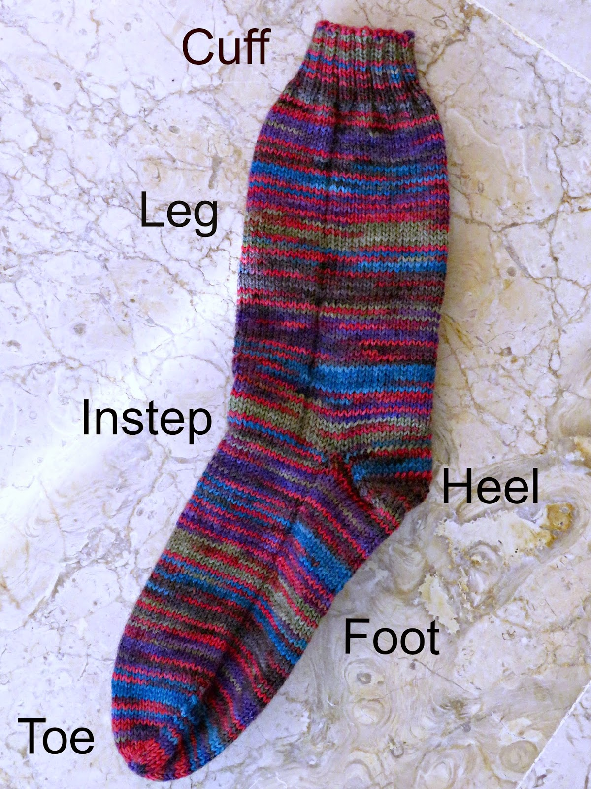 just saying ...: How to knit the very easiest snuggly socks ...