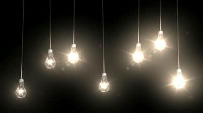 Seven lightbulbs