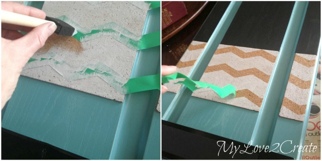 painting chevron stencil