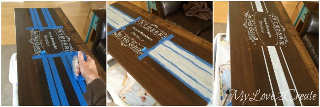 taping and painting grain sack stripes