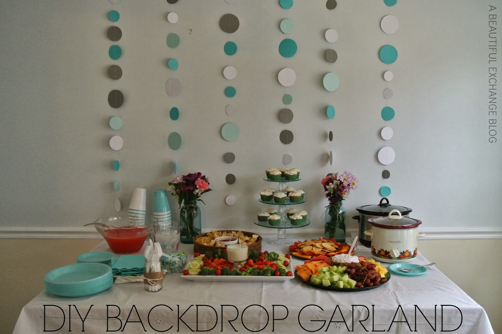 A beautiful exchange diy backdrop garland for Baby shower decoration ideas homemade