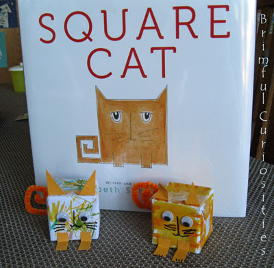 Chalk talk a kindergarten blog square cat a new favorite for Cat art and craft