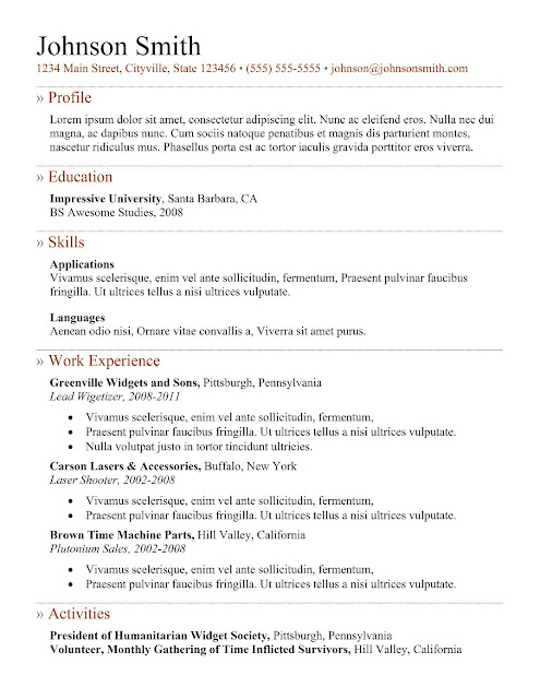 7 simple resume templates free best