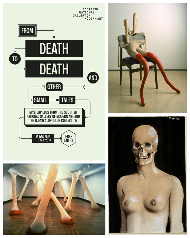 scottish national gallery of modern art, from death to death, exhibition, sarah lucas, rene magritte, ernesto neto