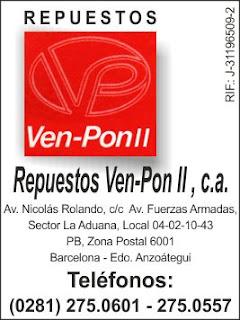 REPUESTOS VEN-PON II, C.A. en Paginas Amarillas tu guia Comercial