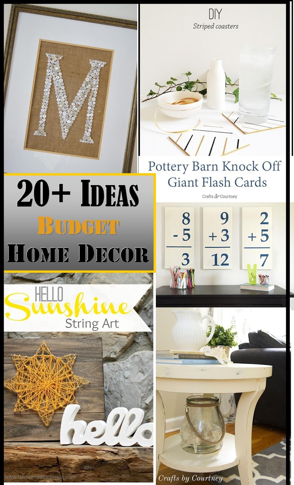 Decorating On a Budget Ideas plus The Creative Exchange Link Party ...