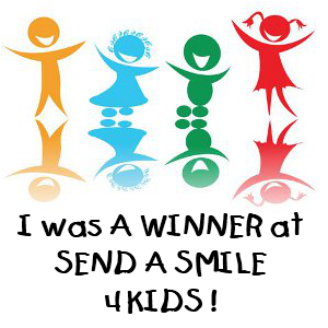 WINNER@ Send a Smile 4 Kids.