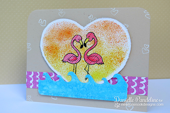 Pink Flamingo Card by Danielle Pandeline | Flirty Flamingos Stamp set | Newton's Nook Designs