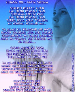Lyric Lagu Religi 2013/1434 (Bergambar) Patin shidqia-Kekasih Mu