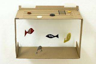 Aquarium kardus