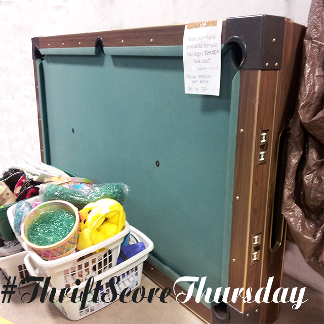#thriftscorethursday Week 21- $5 Pool Table | www.blackandwhiteobsession.com