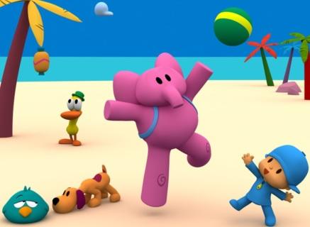 Pocoyo y sus amigos en la playa