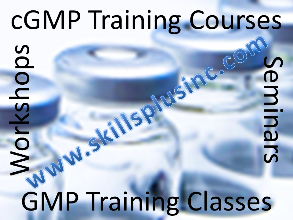 GMP Training   |  cGMP Training