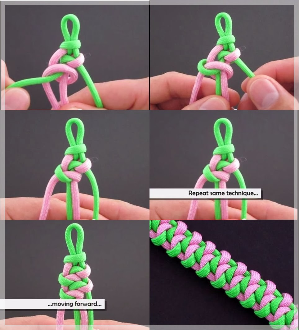 About Macrame..: cara membuat gelang macrame Háifoss Bar (Bracelet ...