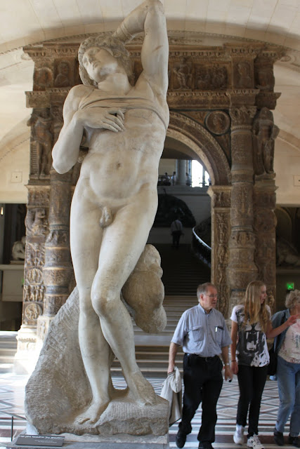 The Dying Slave by Michelangelo in Lourve Museum in Paris, France