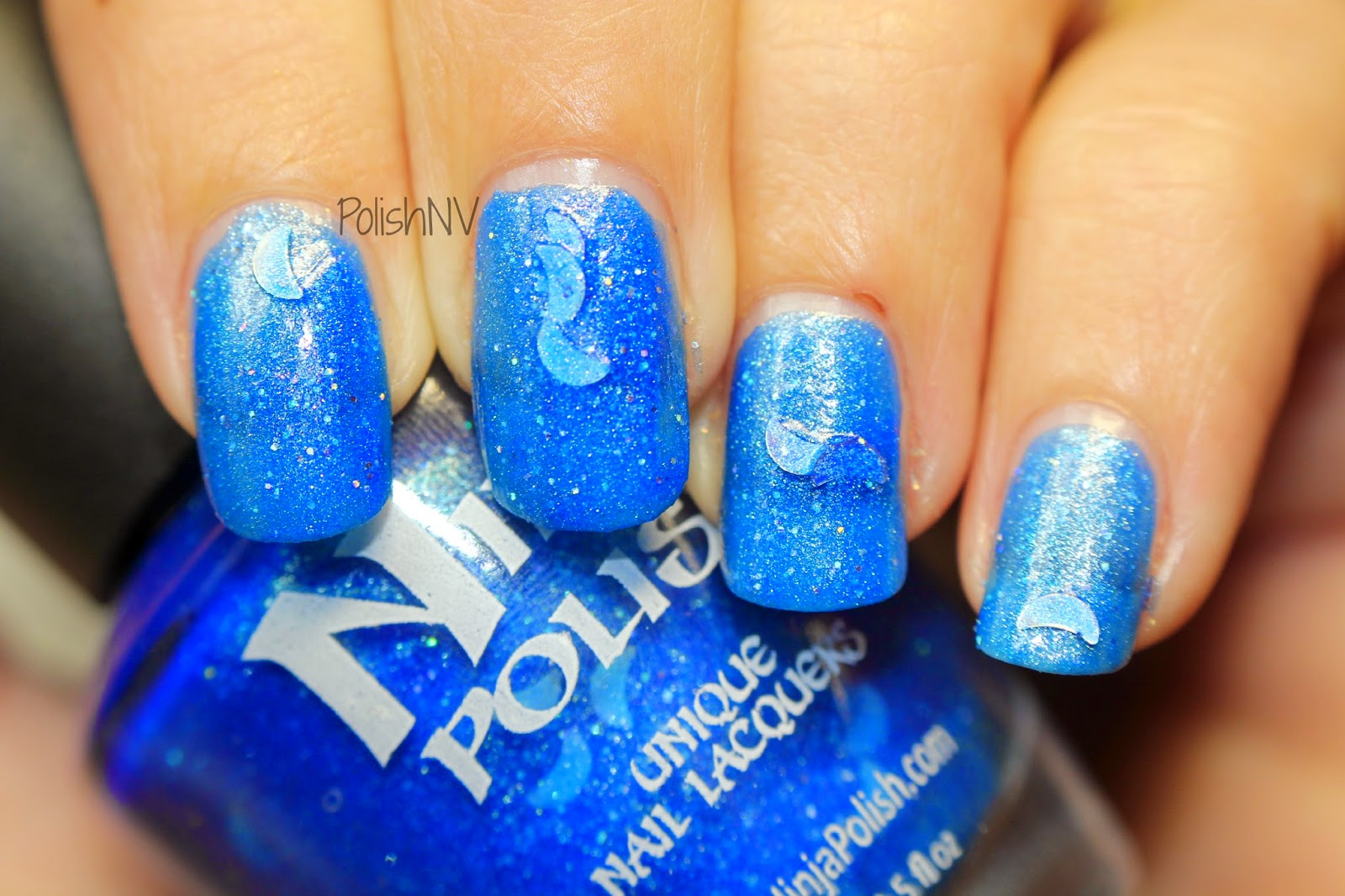 ninja polish howling  blue moon