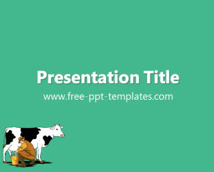 Cow Ppt Template Free Powerpoint Templates
