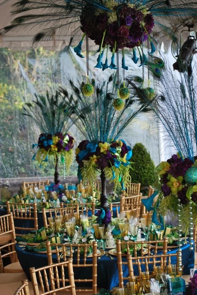peacock wedding decorations wedding stuff ideas. Black Bedroom Furniture Sets. Home Design Ideas
