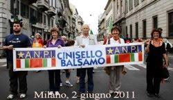 2011, l'ANPI di Cinisello Balsamo alla manifestazione del 2 giugno