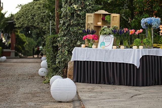 Decoración boda Valencia Bienvenida invitados