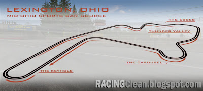 Mid-Ohio Sports Car Course - Lexington Ohio - Track Map