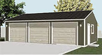 Economy Garage Plan E816-1 by Behm Design