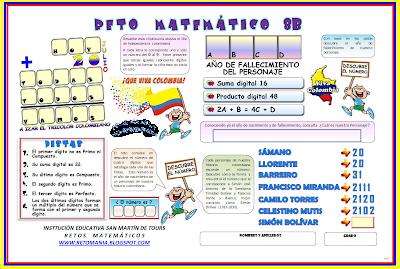 Retos matemáticos, problemas matemáticos, problemas de ingenio