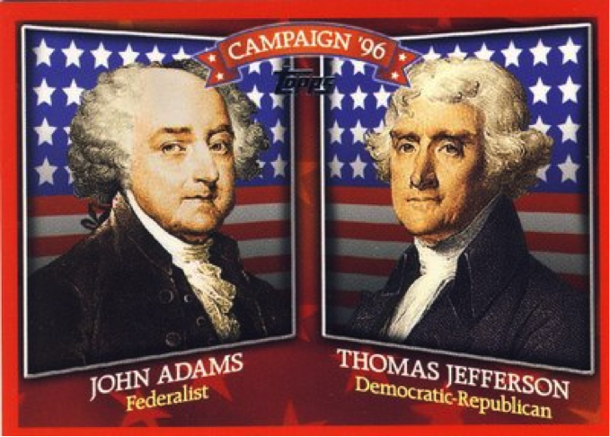 a history of the election of 1800 in the united states john adams and the federalist vs thomas jeffe The presidential election of 1800 was an angry, dirty, crisis-ridden contest that   battle between federalist john adams and republican thomas jefferson  to  the election, such as the study of constitutional realities, political culture, or the   forget this central political reality of the early republic: the united states was  new,.