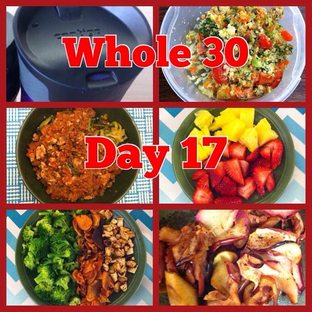 Whole 30 Challenge Day 17 Meal Plan