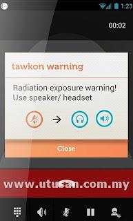 Aplikasi Android ini mampu mengesan paras radiasi dari telefon bimbit yang meningkat dan ia seterusnya akan meminta pengguna menjauhkan telefon bimbit atau menggunakan pembesar suara.