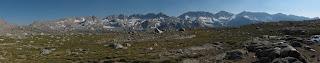 Rückblick auf die Glacier Divide