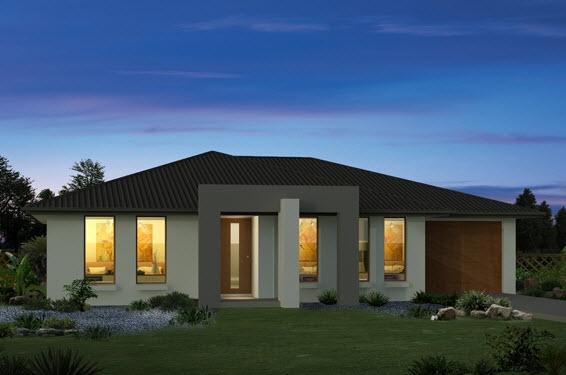 fachadas de casas de un piso o nivel construye hogar