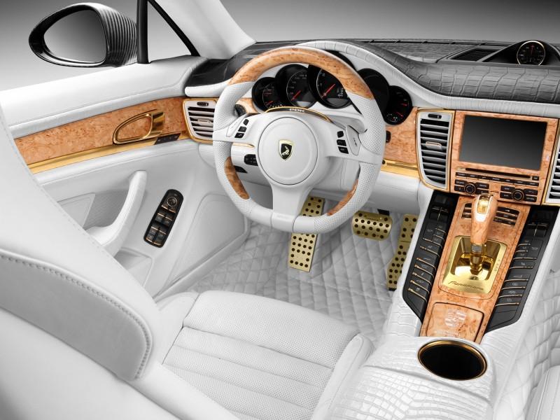 porsche panamera turbo s steering wheel - Porsche Panamera White Red Interior