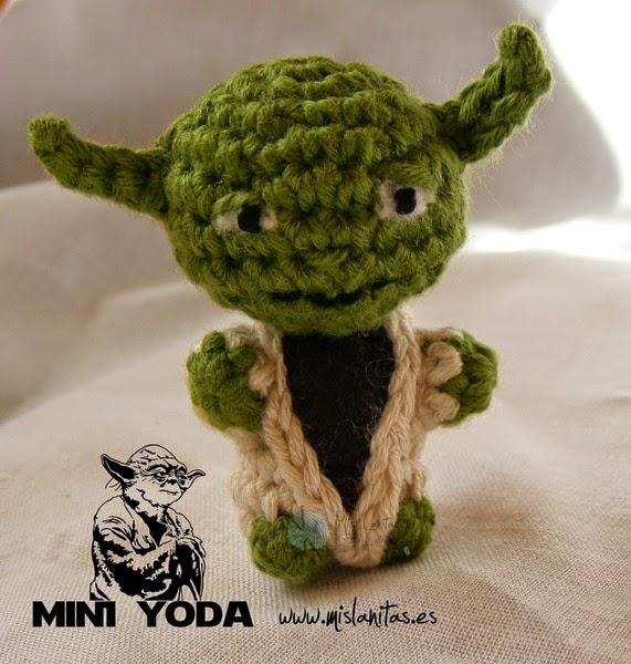 Amigurumi Maestro Yoda : El Ba?l de Elveawen: Mini master yoda amigurumi Star Wars