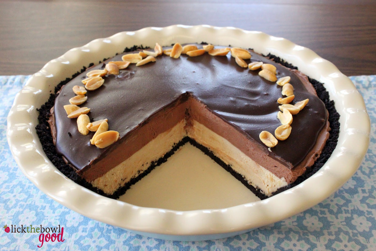 Chocolate & Peanut Butter Mousse Cake Recipe — Dishmaps