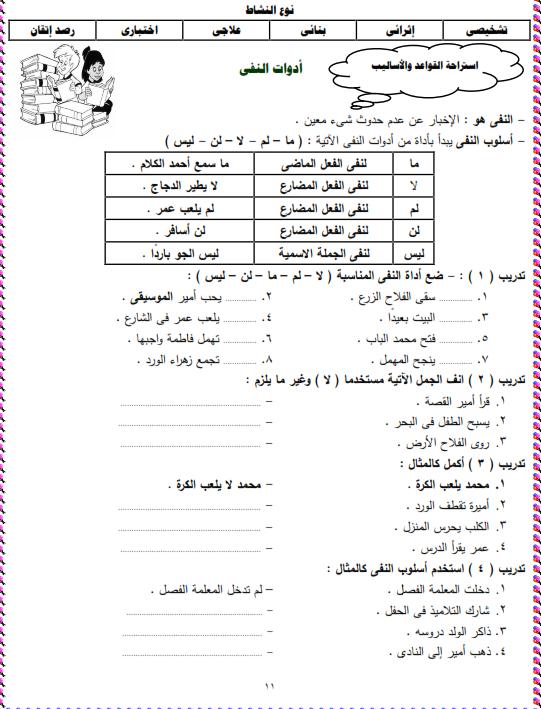 شيتات المجموعة المدرسية لمادة اللغة العربية للصف الثالث الابتدائى على هيئة صور للمشاهدة والتحميل The%2Bfirst%2Bunit%2B3%2Bprime_011