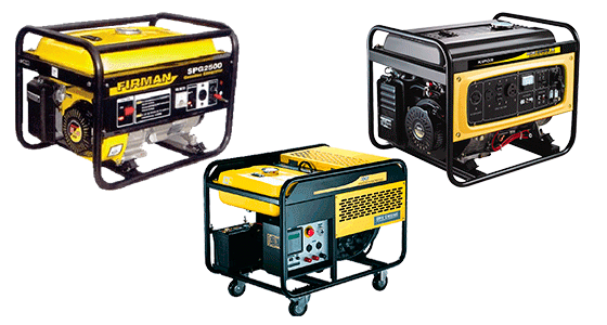 Примеры дизельных генераторов (фирмы KIPOR и FIRMAN)