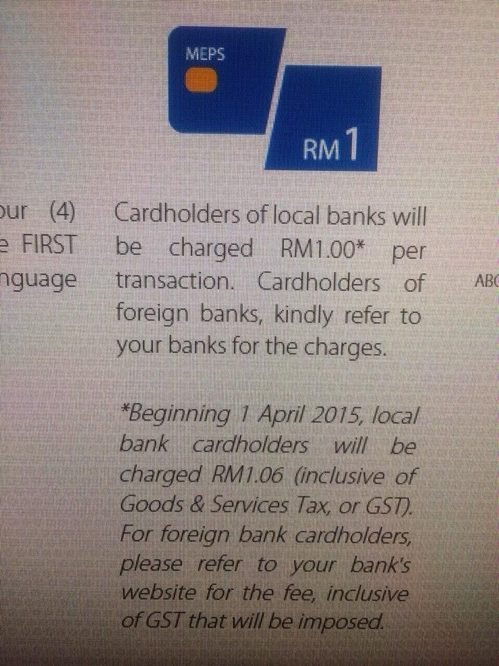 GST Dikenakan Bagi Sesetengah Perkhidmatan Urusan Bank