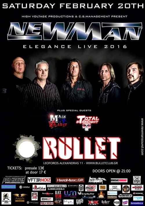 NEWMAN, MAKE IT NASTY, TOTAL STARLIGHT: Σάββατο 20 Φεβρουαρίου @ Bullet Cafe Club