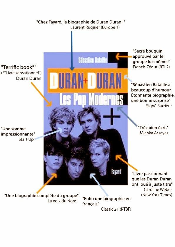 cadeaux Noel, Duran Duran biographie, Duran Duran Les Pop modernes, Duran Duran live at Wembley, Duran Duran Secret Oktober, Duran Duran Sébastien Bataille, idées cadeau Noel, Nile Rodgers Duran Duran