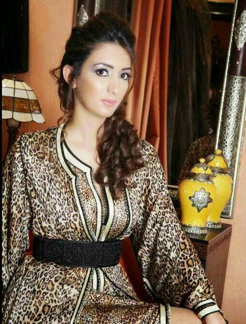 Caftan marron style léopard luxueux 2014