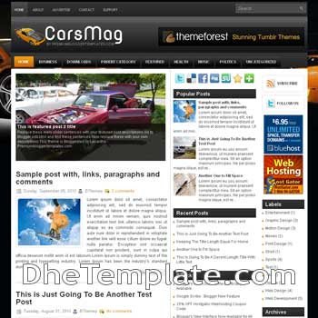 CarsMag blog template. magazine blogger template style. magazine style template blogspot. 3 column blogspot template