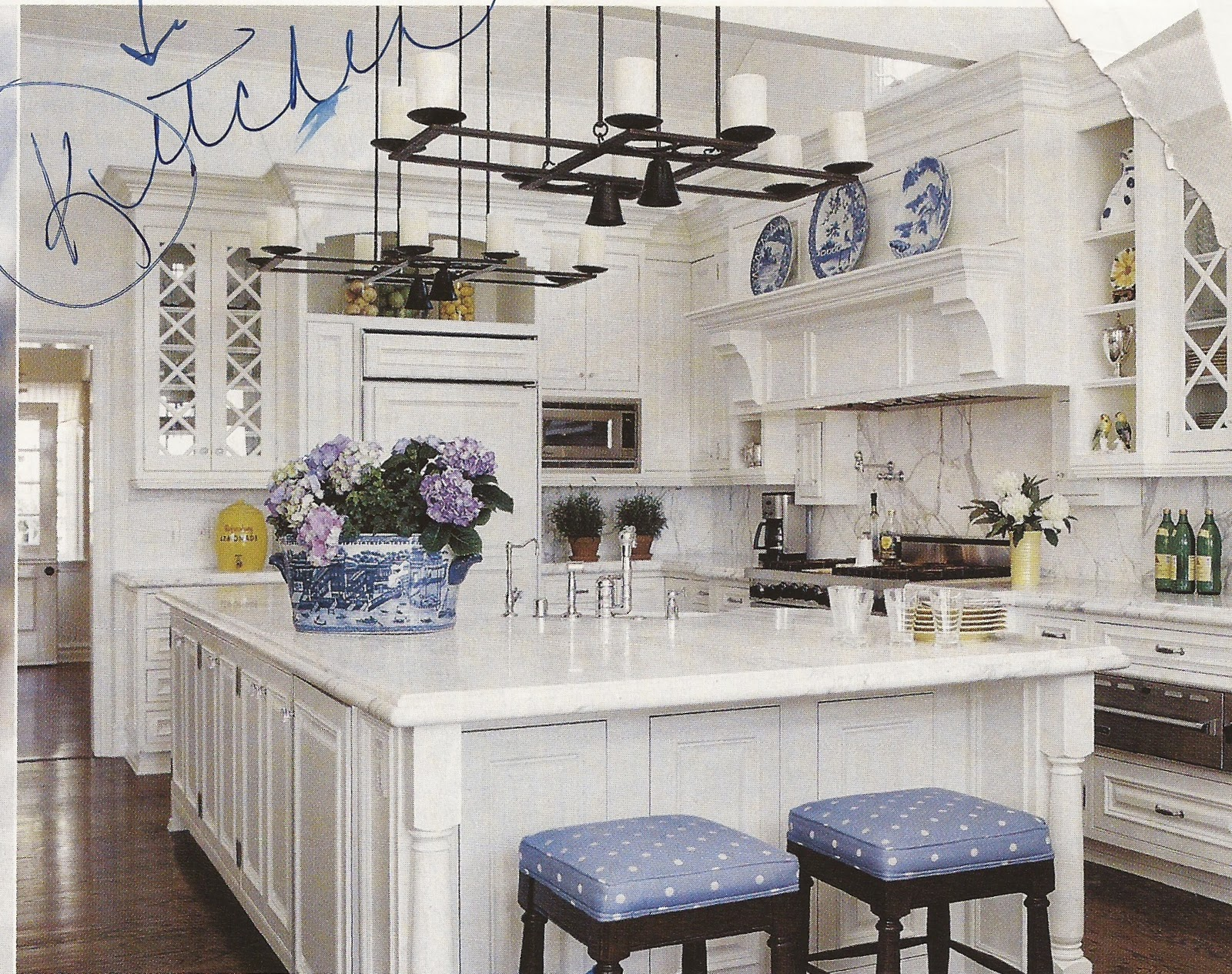 Blue & White Traditional Kitchen