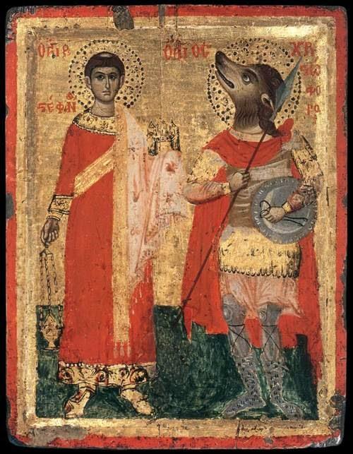 Representación pictografica del Numerus Marmaritarum, el legendario Cincocéfalo que perteneció a la legión romana