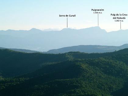 Panoràmica cap a llevant des del cim del Puig de la Caritat