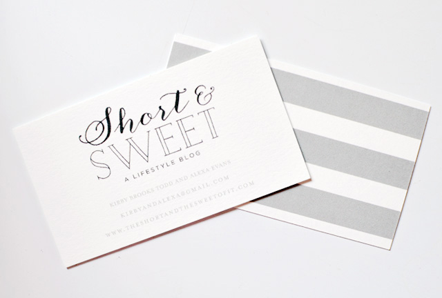 The Short and the Sweet of It Business Cards Through Minted