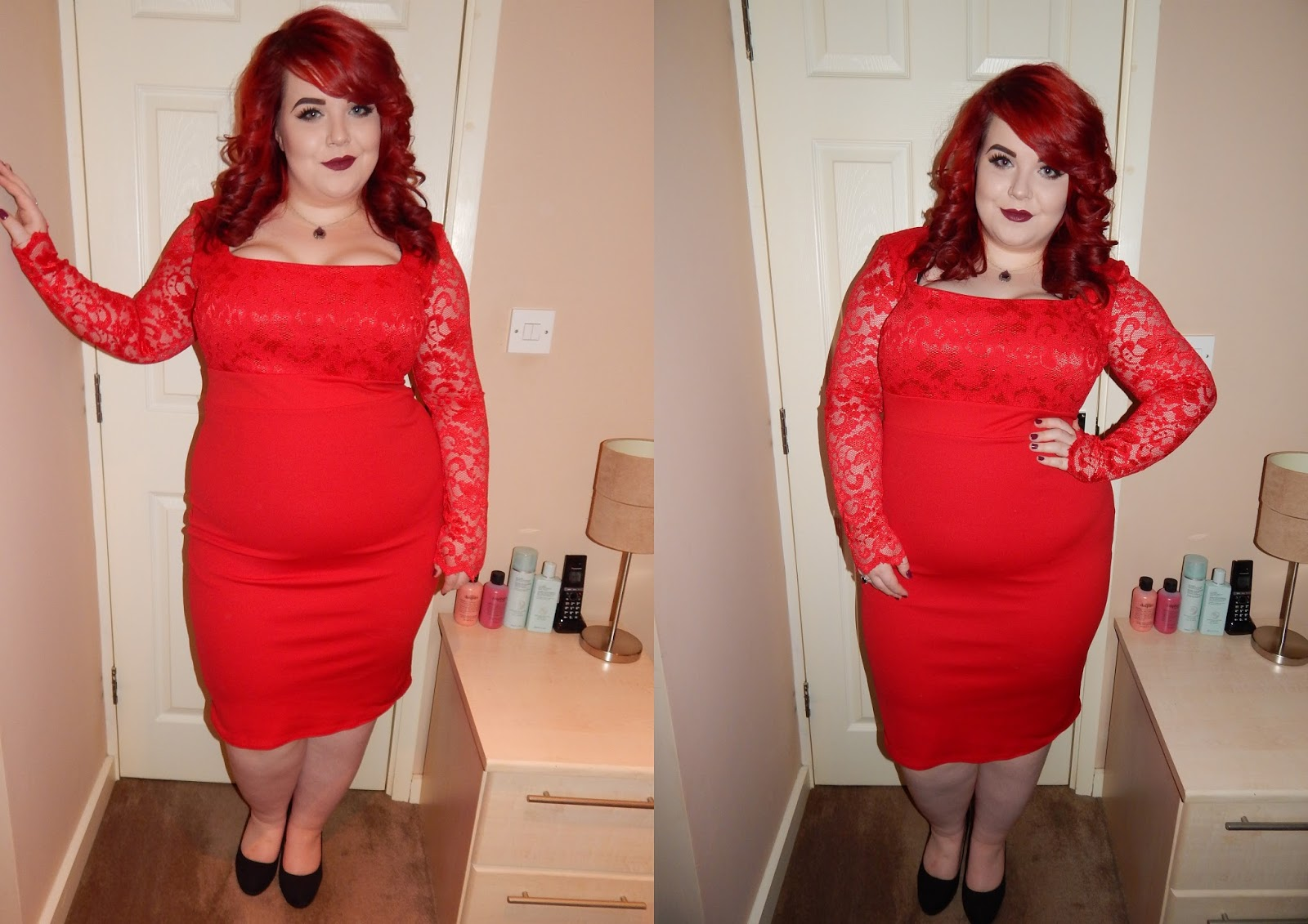 Gemma Collins Georgia Dress - Perfect for Valentine's Day, georgina grogan, plus size blogger