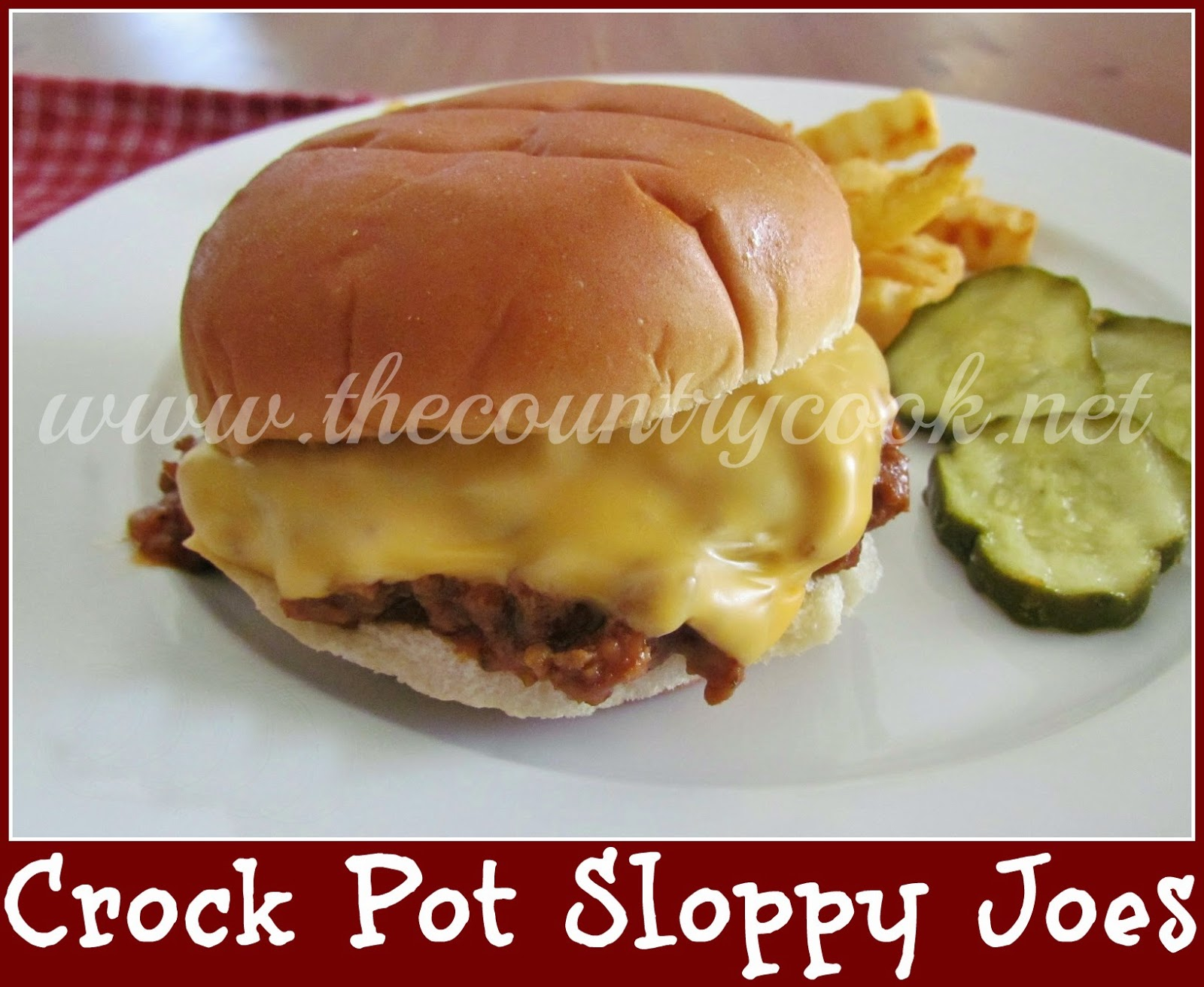 The Country Cook: Back to School Crock Pot Recipes